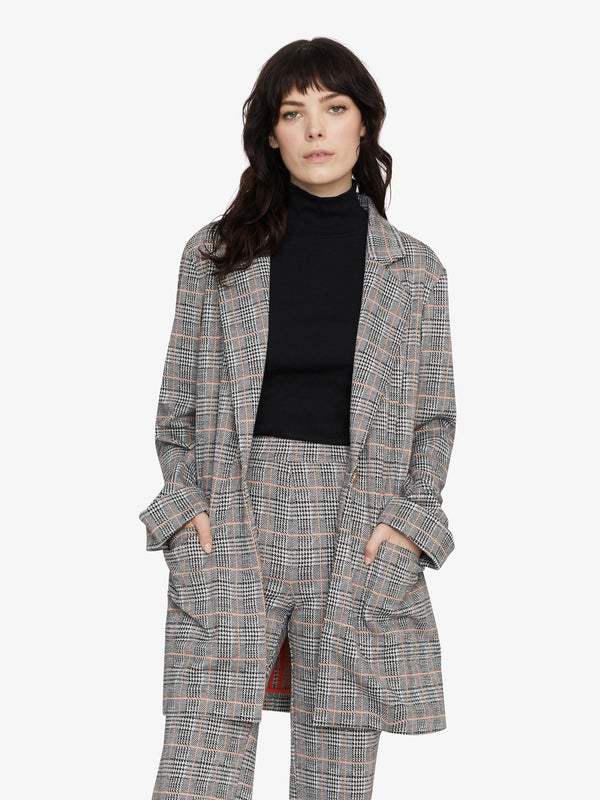 The Editor Jacket Fizz Plaid