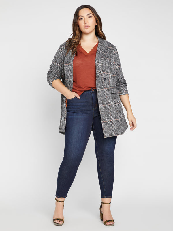 Carlyle Coat Abstract Plaid Inclusive Collection