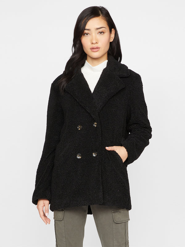 Autumn Peacoat Jacket Black