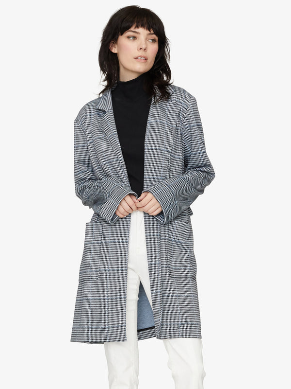 The Editor Jacket Ice Blue Plaid