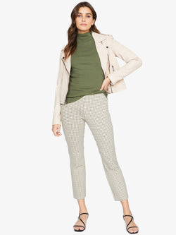 Carnaby Kick Crop Legging Beige Check
