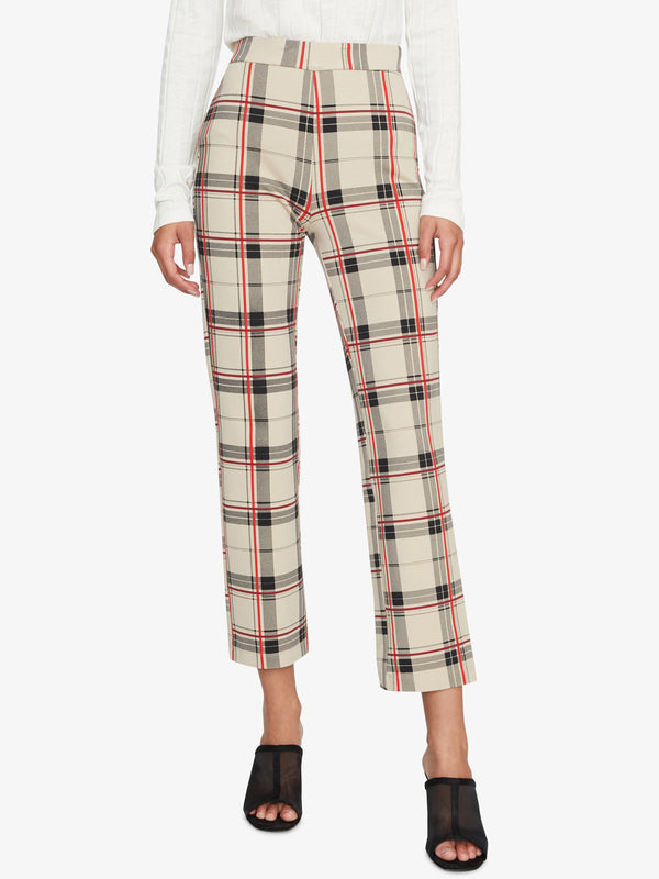 Carnaby Kick Crop Legging Champagne Plaid
