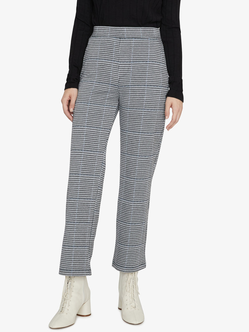 The Runway Crop Pant Ice Blue Plaid