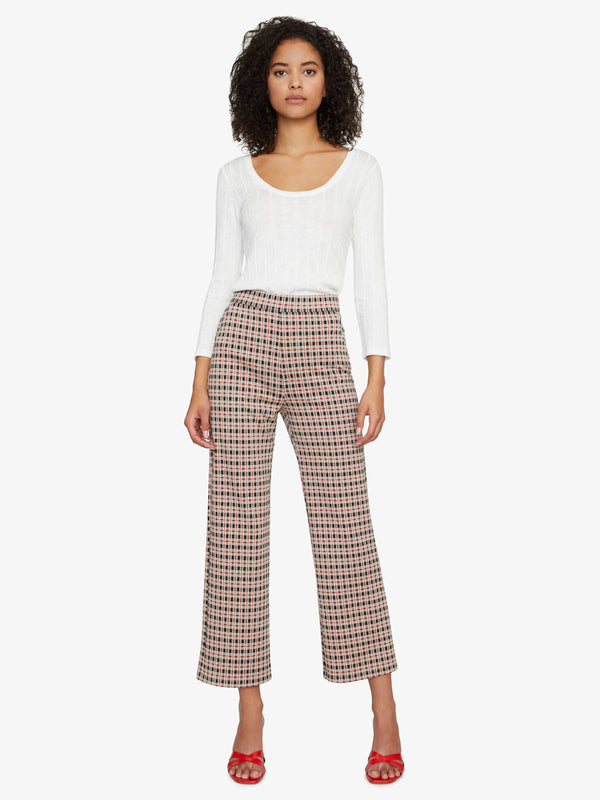 The Runway Crop Pant Spectrum Plaid