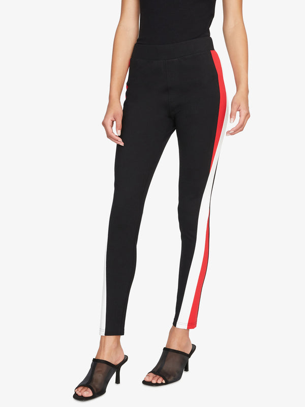 Colorblock Legging Black Cloud Party Red
