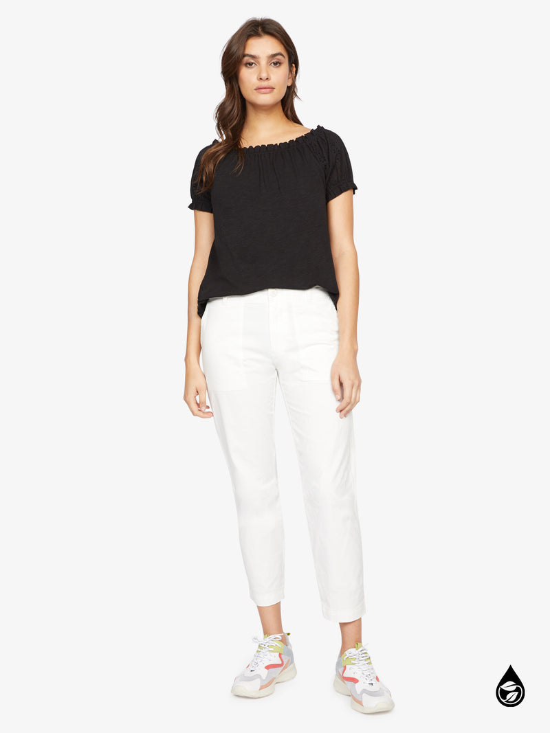 Formation Crop Pant White Jasmine