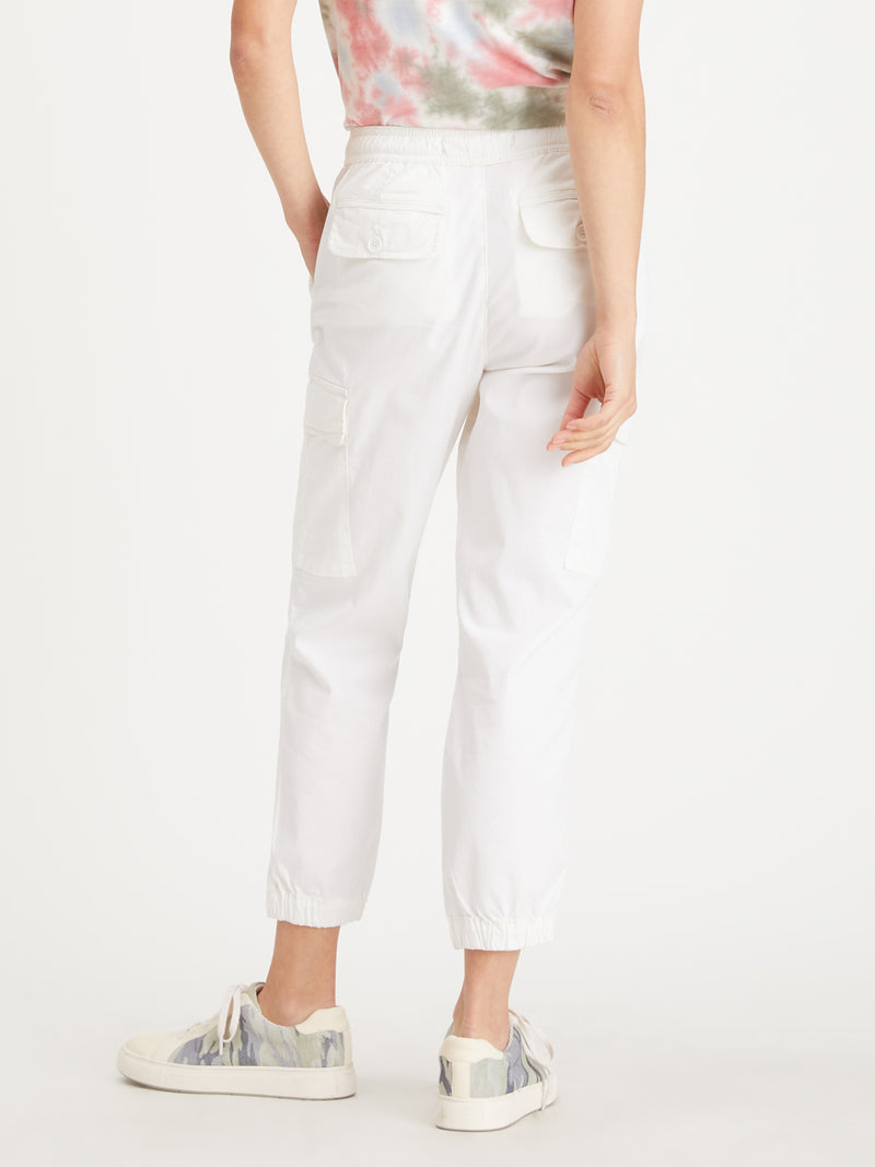 Squad Crop Jogger White