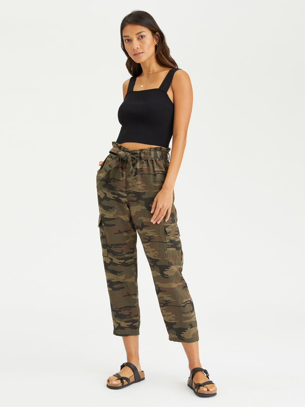 The Traveler Paper Bag Pant Little Hero Camo