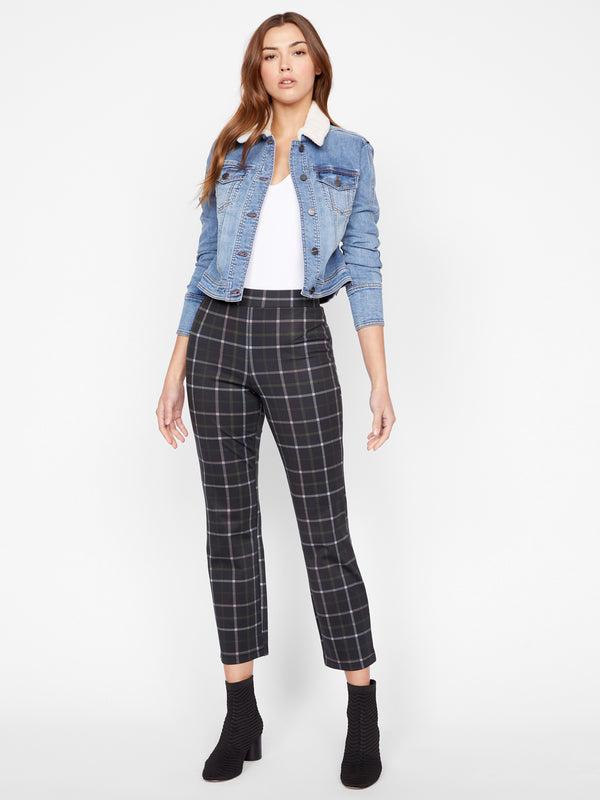 Carnaby Kick Crop Legging Morning Pink Plaid