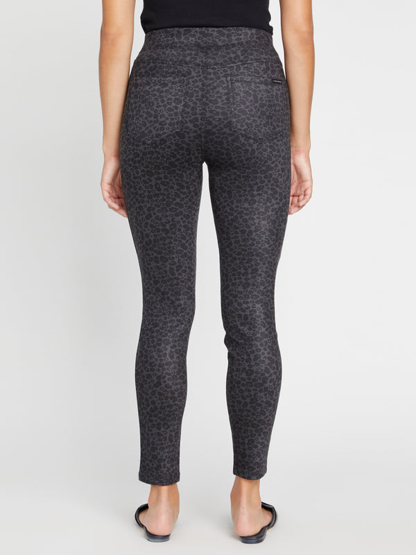 Runway Legging Grey Leo Faux Suede