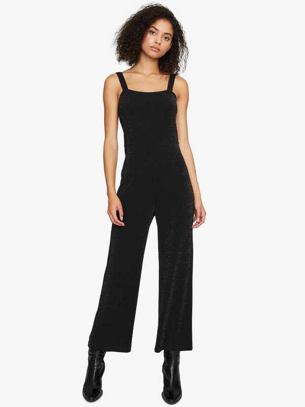 The Feel Good Jumpsuit Black Metallic