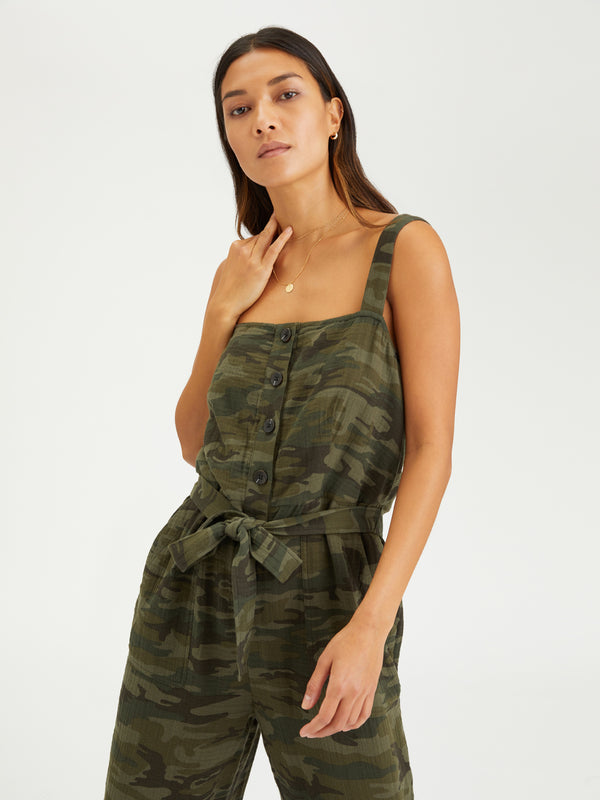 Breezy Jumpsuit Safari Camo