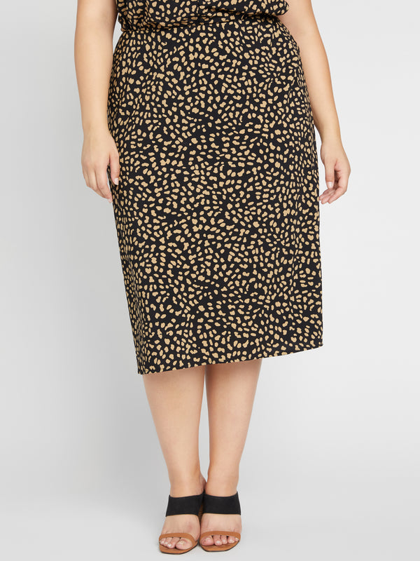 Everyday Midi Skirt Black Modern Spots Inclusive Collection