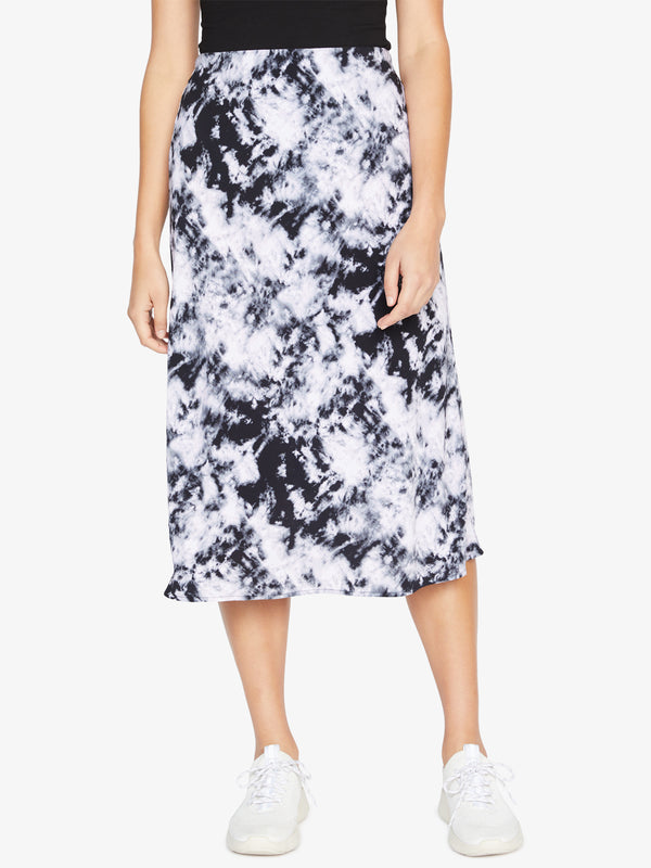 Everyday Midi Skirt Dark Tie Dye
