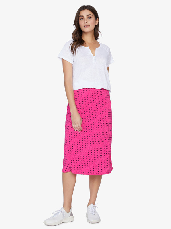 Everyday Midi Skirt Hot Dot