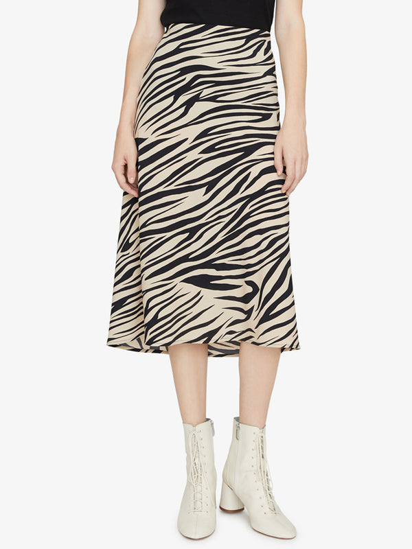 Everyday Midi Skirt Zebra