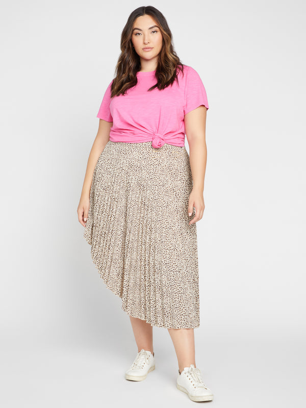 The Pleated Skirt Mini Leopard Inclusive Collection