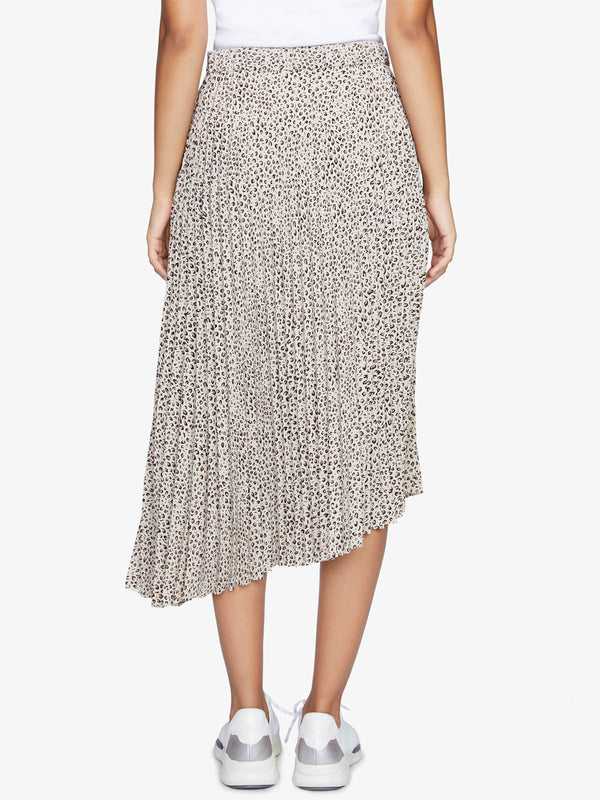 The Pleated Skirt Mini Leopard