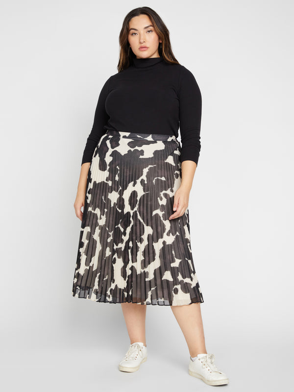 Pleat It Midi Skirt Pony Print Inclusive Collection