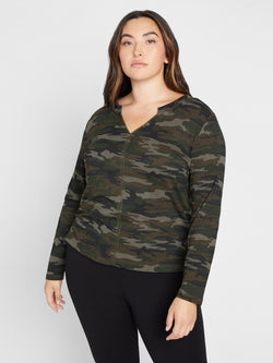 Long Sleeve Ives Tee Forest Camo Inclusive Collection -