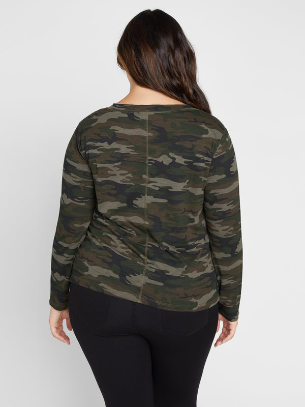 Long Sleeve Ives Tee Forest Camo Inclusive Collection - Knit