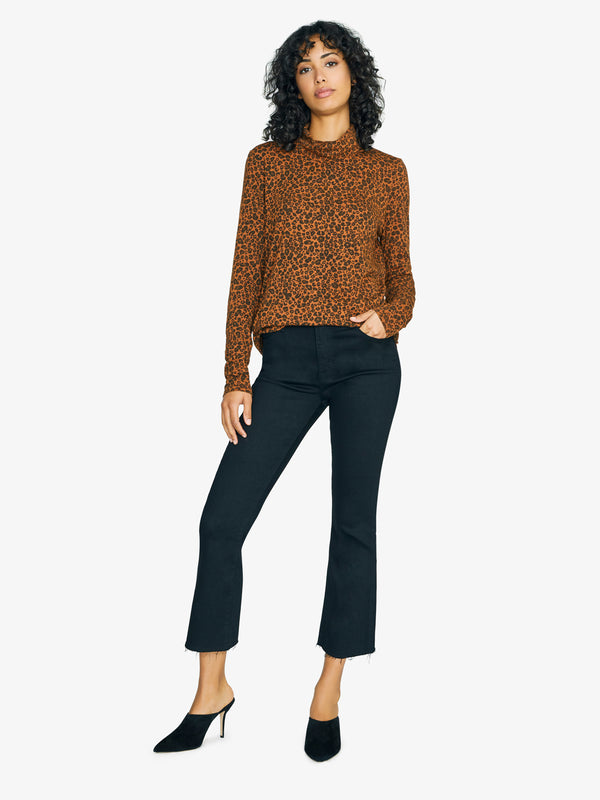 On A Roll Turtleneck Tee Leopard