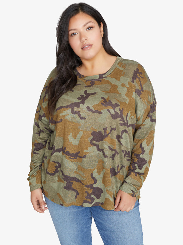 Carlee Camo Tee Mineral Camo Inclusive Collection