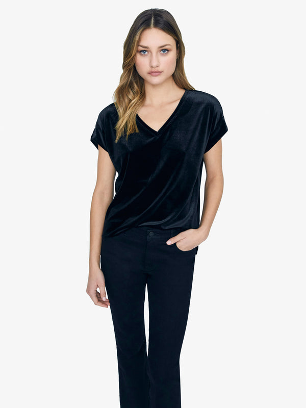 Cassia Hi-Lo Top Black