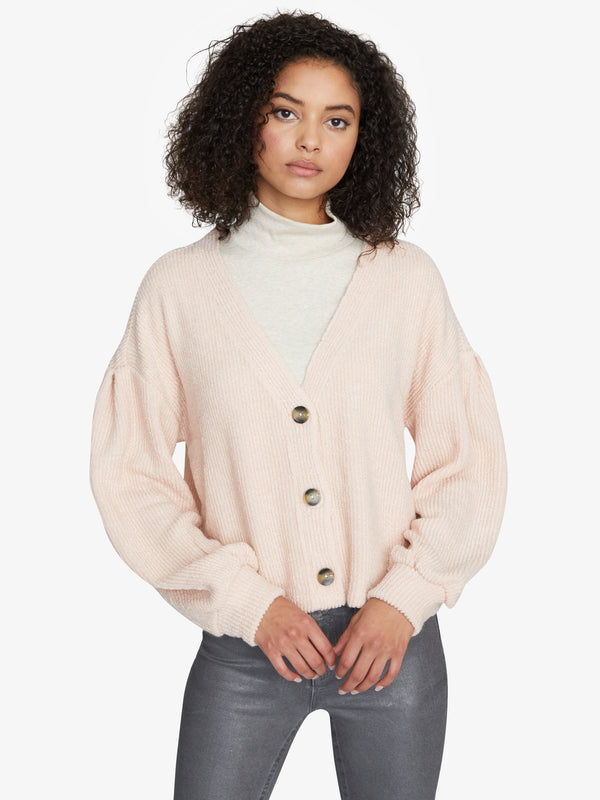 The Fuzzy Pleated Cardigan Himilayan Salt
