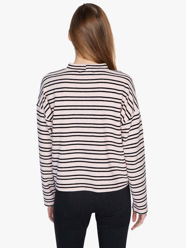 Alea Striped Pullover Light Pearl/Black Stripe