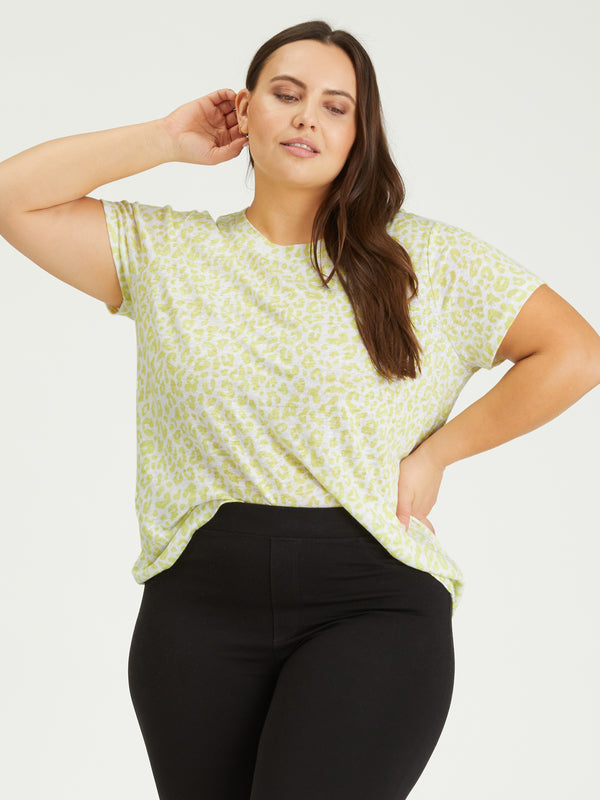 The Perfect Tee Lime Leo Inclusive Collection - Knit Top