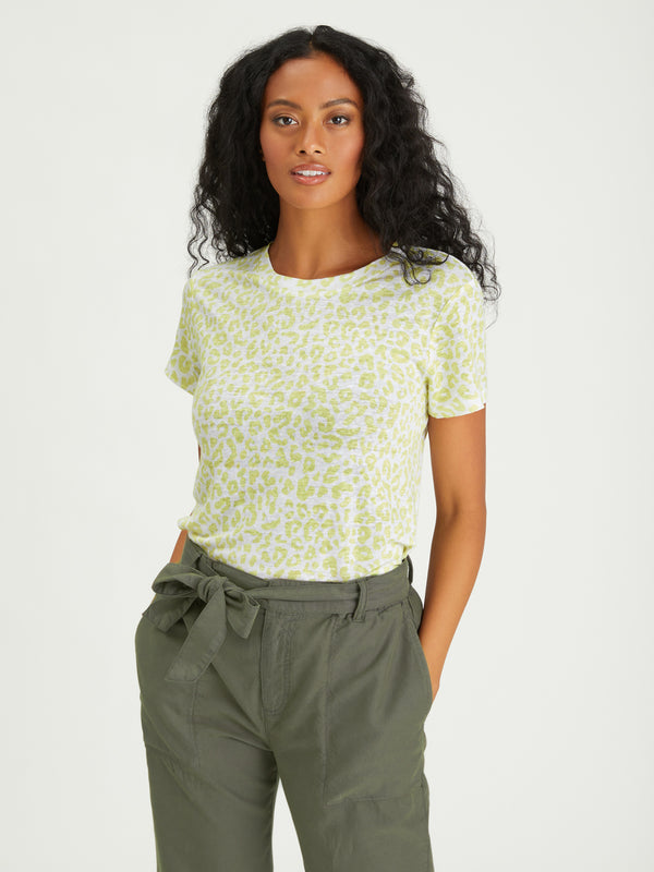The Perfect Tee Lime Leo - Knit Top