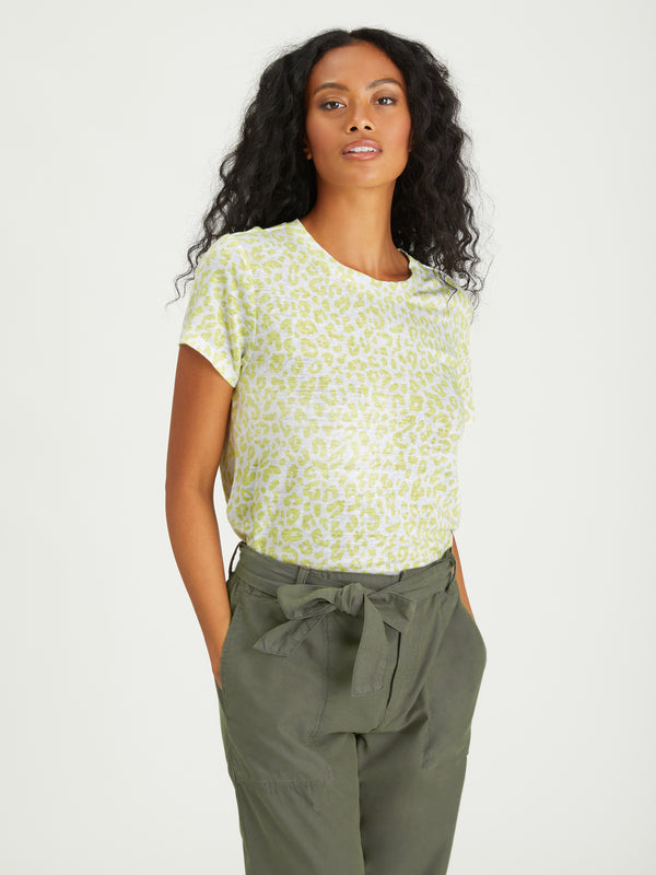 The Perfect Tee Lime Leo - LIME LEO / XXS - Knit Top