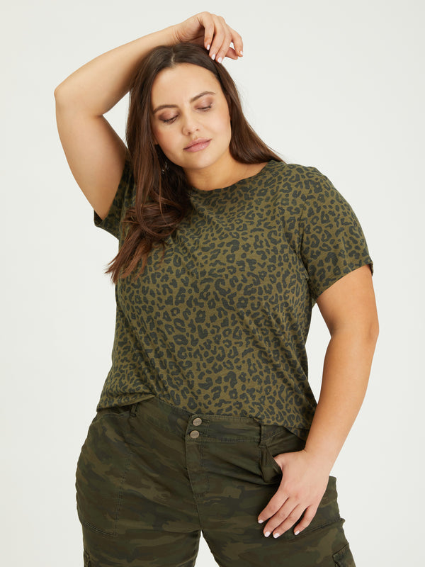The Perfect Tee Camo Leo Inclusive Collection - Knit Top