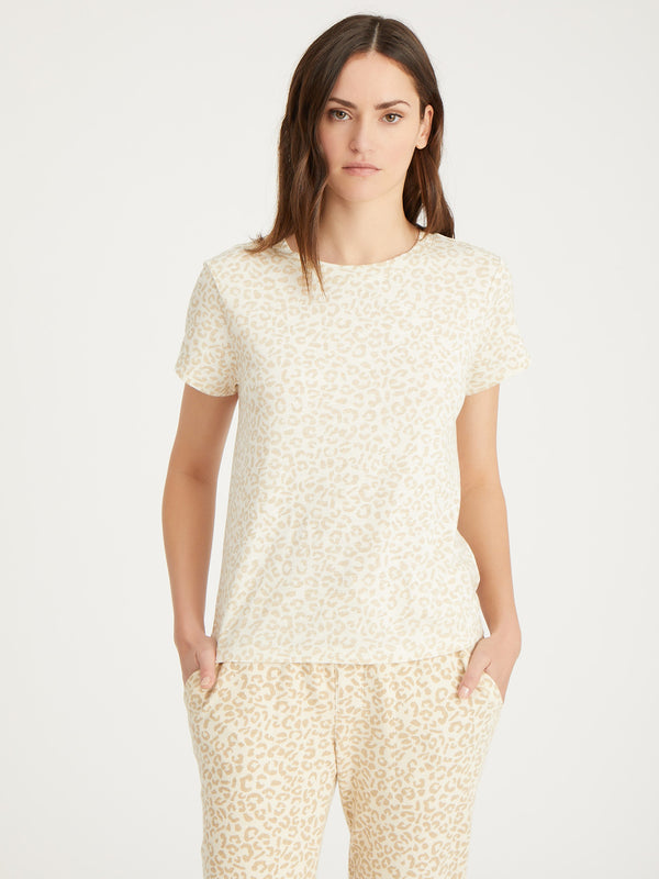 The Perfect Tee Barely Leopard - Barely Leopard / XXS - Knit