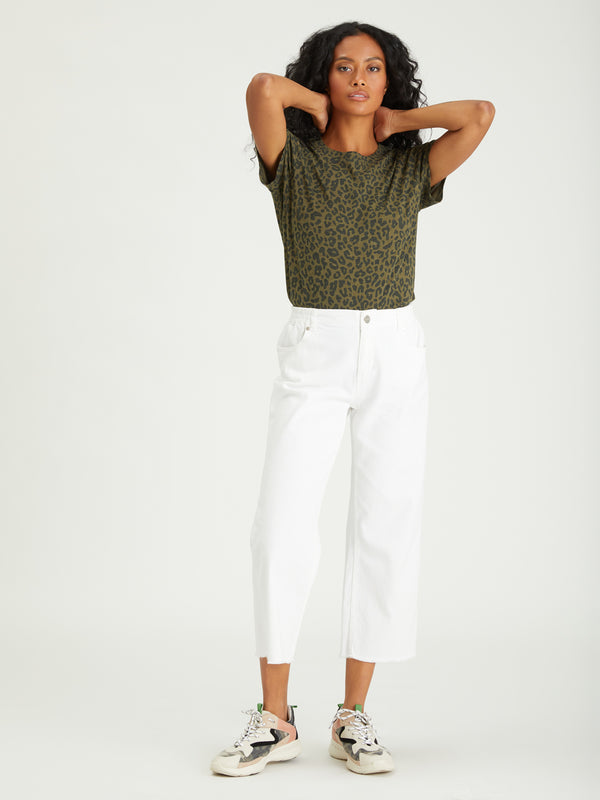 The Perfect Tee Camo Leo - Knit Top