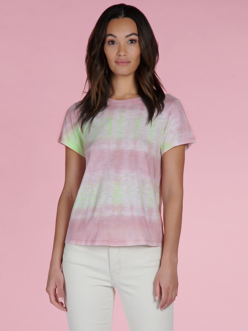 Perfect Tee Pink Lime Tie Dye - Knit Top