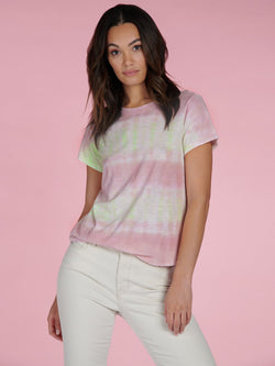 Perfect Tee Pink Lime Tie Dye