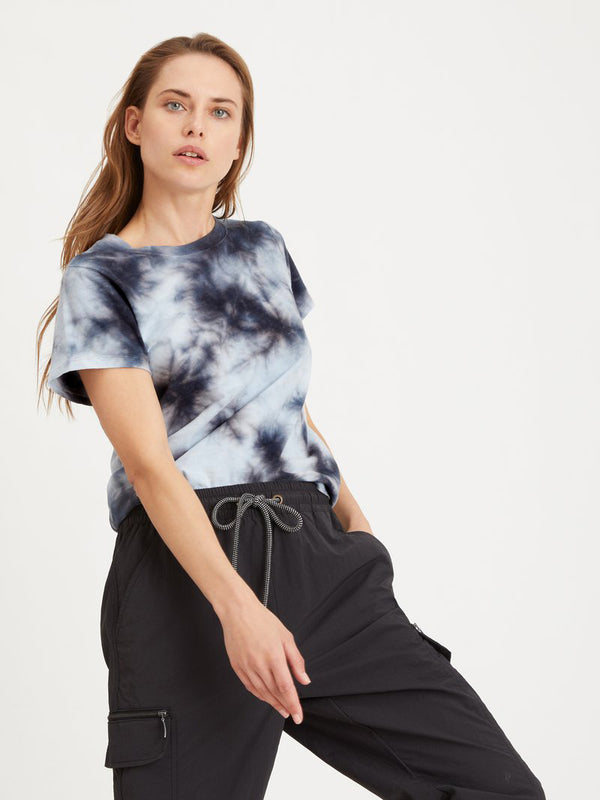 The Perfect Tee Sky Blue Tie Dye