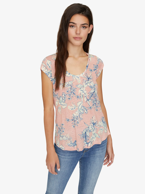 Alma Scoop Tee Tropic Beach Babe