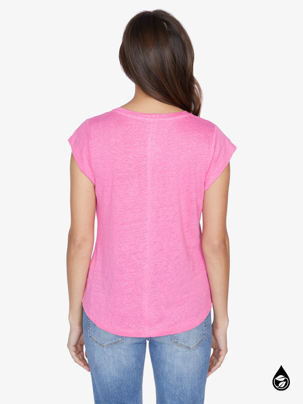 Alma Scoop Tee Hot Pink