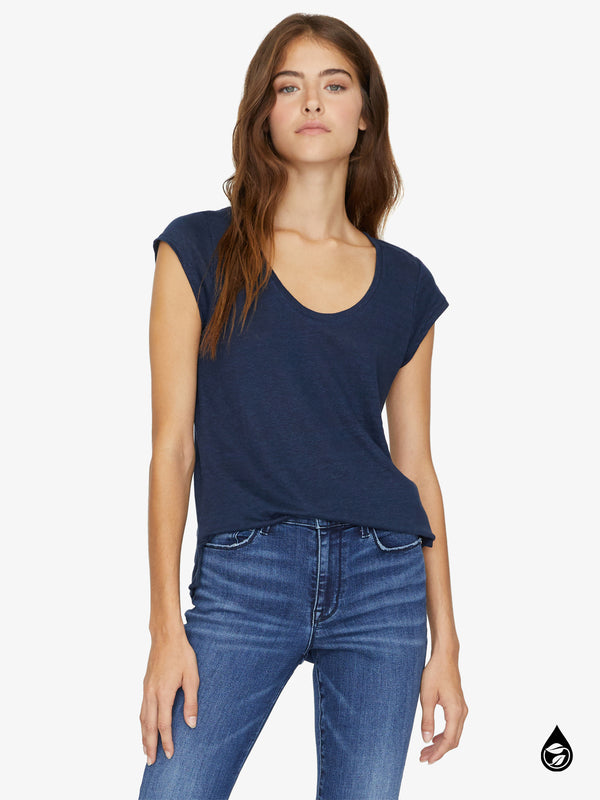 Alma Scoop Tee Navy Vibration