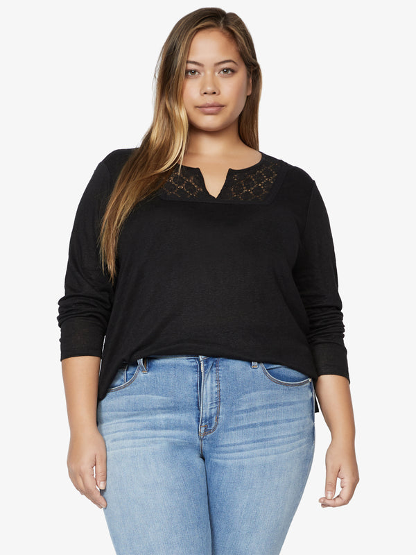 Lora Crochet Tee Black Inclusive Collection