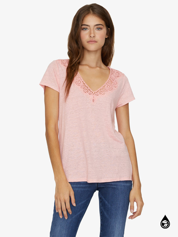 Virginie Lace Tee Light Fresia