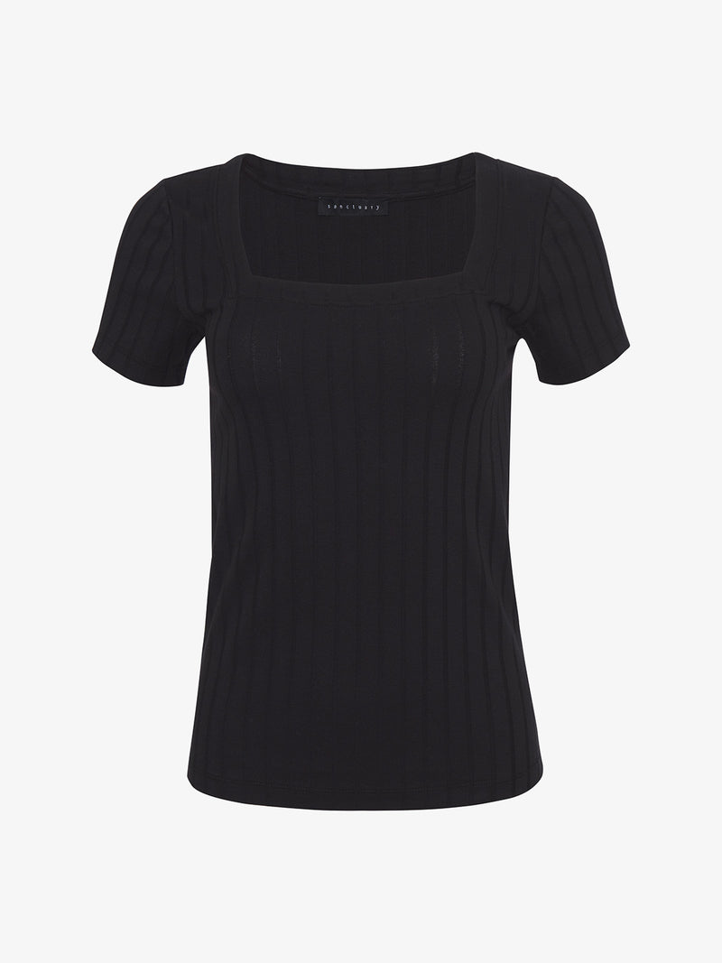 Handle with Square Tee Black