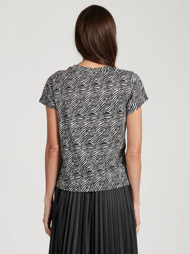 The Perfect Tee Abstract Animal - Knit Top