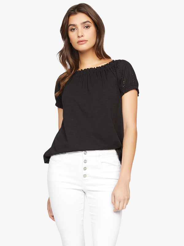 Short Sleeve Julia Tee Black