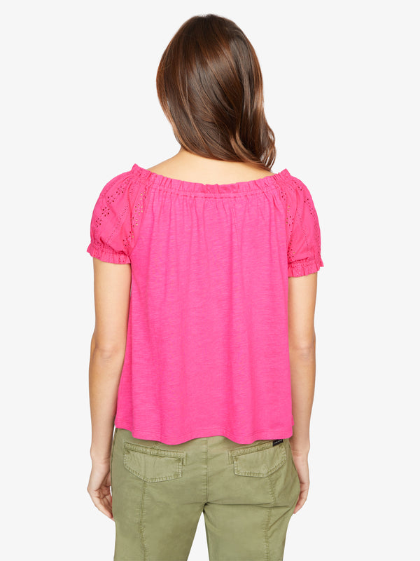 Short Sleeve Julia Tee Hibiscus