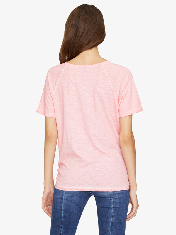 Lou Ruched Tie Tee Bright Fresia