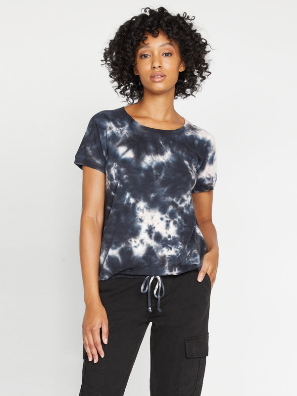 Lou Drawstring Tee Washed Papaya Tie Dye